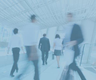 Motion image of Bravura Solutions staff walking at the corridors of the building