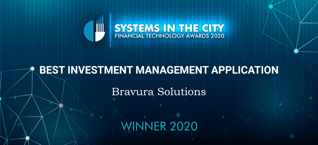Best investment management application Bravura Solutions winner 2020